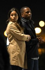 Freida Pinto Kisses co-star Leslie Odom Jr, filming final scenes for Needle in a Timestack, Canada