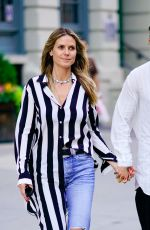 Heidi Klum Goes to a music festival in Prospect Park in Brooklyn, New York