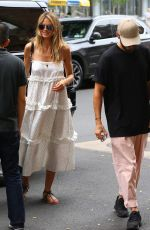 Heidi Klum Returning from a boat ride after a tour of the Statue of Liberty in NY