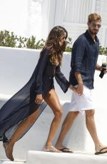 Izabel Goulart Boating with her fiance and friends on Mykonos Island