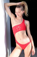 Jaime King Shows off her impeccable figure in a red bikni during a photoshoot for GiGiC Bikinis on location in Hollywood
