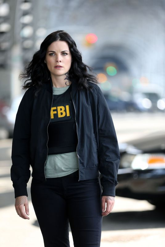 Jaimie Alexander On set of Blindspot in Harlem, Manhattan