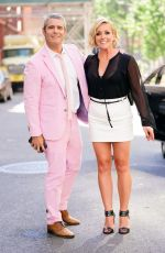Jane Krakowski Runs into Andy Cohen while out and about in New York City