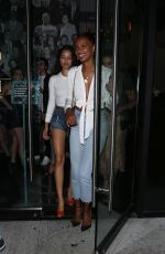 Jasmine Tookes and Shanina Shaik Have a girls night at Catch in West Hollywood