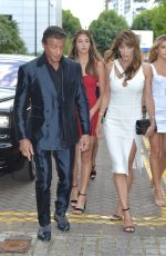 Jennifer Flavin, Sistine Stallone, Sophia Stallone and Scarlet Stallone at the Corinthia Hotel in London