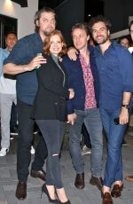Jessica Chastain and husband Gian Luca are joined by the cast of IT Chapter 2 for a night out in Toronto