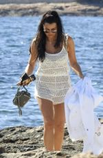 Jessica Wright In a flowered bikini spending a day by the beach on holiday in Ibiza