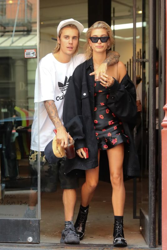 Justin Bieber and Hailey Baldwin out and about