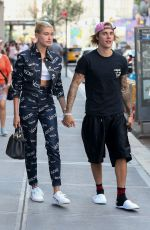 Justin Bieber & Hailey Baldwin Leaving Nobu restaurant in New York