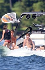 Kaia Gerber Spotted wake surfing with family in Muskoka, Canada