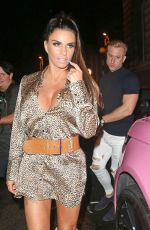 Katie Price and Kris Boyson were seen leaving Acapulco Nightclub in Halifax