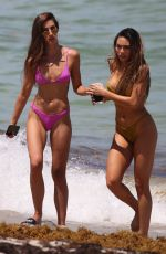 Kaylee Ricciardi and Britt Rafuson On the Miami heat with a dip in the ocean