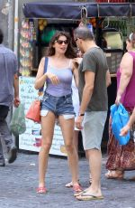 Laetitia Casta On her holidays visiting the sights of the Italian City of Naples
