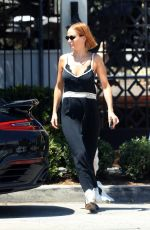 Lara Bingle Waits at the valet following a solo lunch at Gracias Madre in West Hollywood
