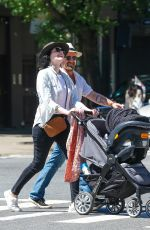 Laura Prepon Strolling Through the East Village of New York City