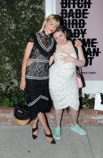 Lena Dunham and Jaime King have a girl bonding moment and share a long hug while hanging out at an event at Violet Grey in Hollywood