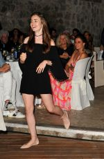 Lily Collins Attends a Gala Dinner at Mezzatorre Hotel during the Ischia Global Film and Music Festival, Ischia, Italy
