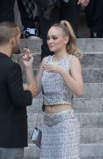 Lily Rose Depp Attends the Vogue Foundation Dinner 2018 at Palais Galleria in Paris