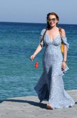 Lindsay Lohan Out and about in Mykonos Island, Greece