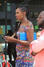 Lisa Leslie Attending the Niecy Nash Walk Of Fame ceremony in Hollywood