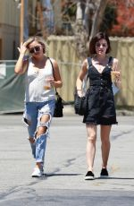 Lucy Hale Grabs lunch with a friend on her sunny Sunday morning out, Studio City