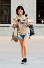 Lucy Hale Shows off her fit figure ahead of a Muay Thai class in North Hollywood