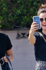 Lucy Hale Takes some selfies as she heads to Starbucks in Studio City, California