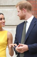 Meghan Duchess of Sussex Arrives to meet youngsters from across the Commonwealth, London