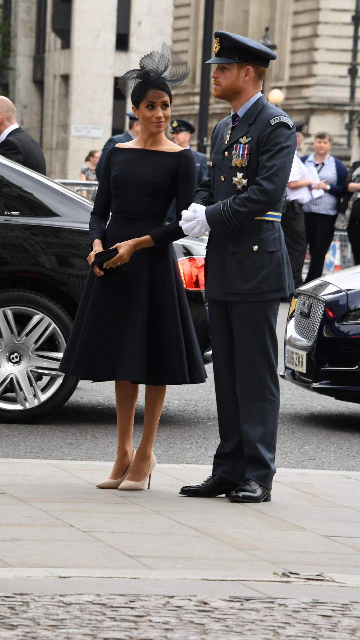Meghan Duchess of Sussex At 100th anniversary service Royal Air Force, Westminster Abbey