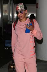 Melanie Brown Touches down at LAX in LOs Angeles