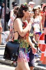 Nicola Thorp Taking part in the Pride In London parade