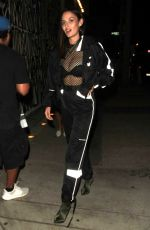 Nicole Trunfio Sports a track suit to dinner at Craig