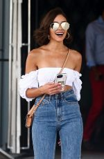 Olivia Culpo Waits for her ride outside the W Hotel in Miami
