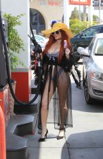 Phoebe Price Eats an ice cream and pumps gas in Beverly Hills