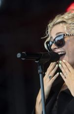 Pixie Lott Performing on stage in South Shields UK