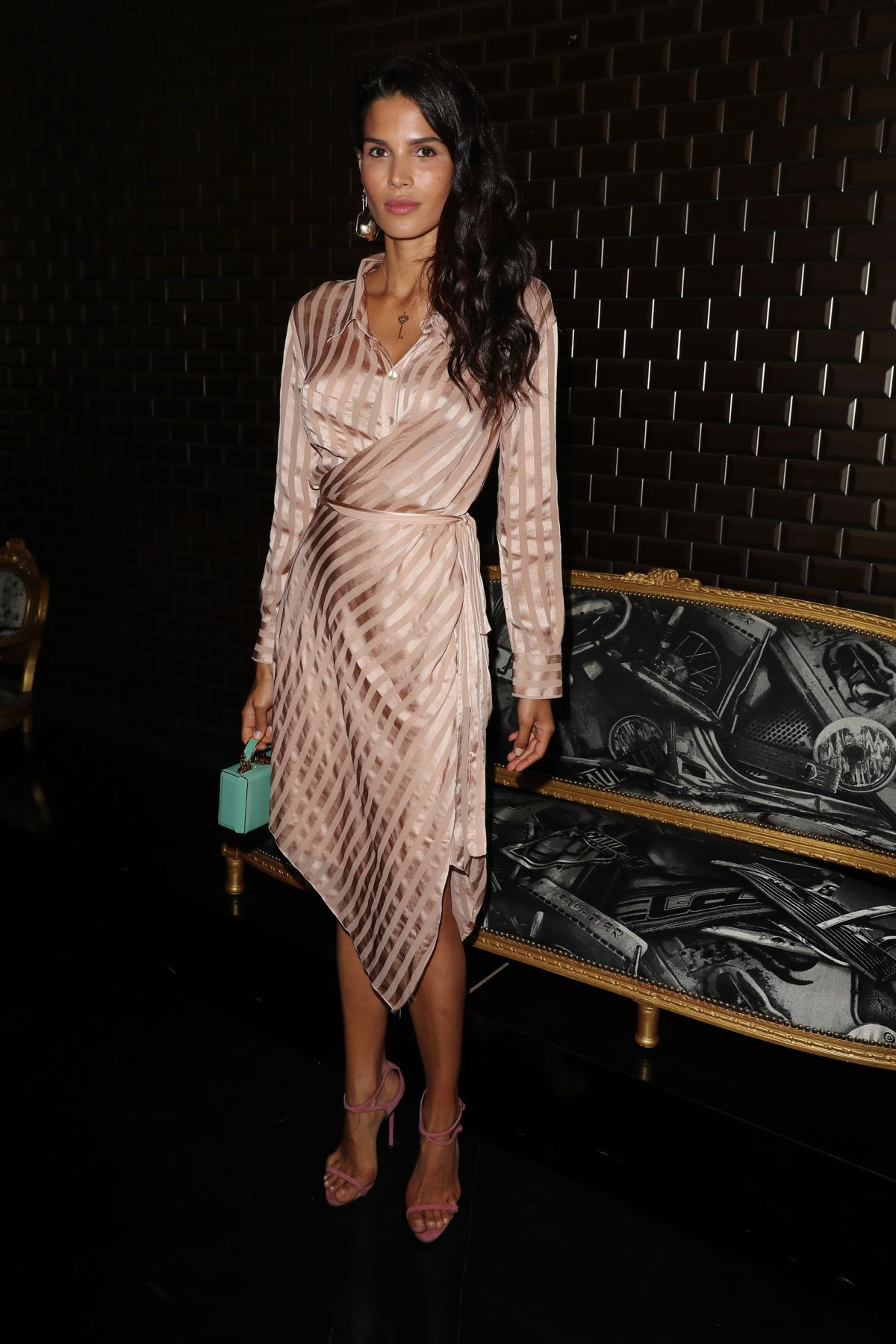 Raica Oliveira At Jean Paul Gaultier Show Front Row Fall