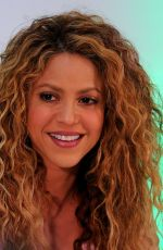 Shakira During a press conference in Barranquilla, Colombia