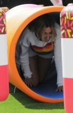 Stacey Solomon At FAB Ice Cream Pop Up Play Park on the Southbank, London