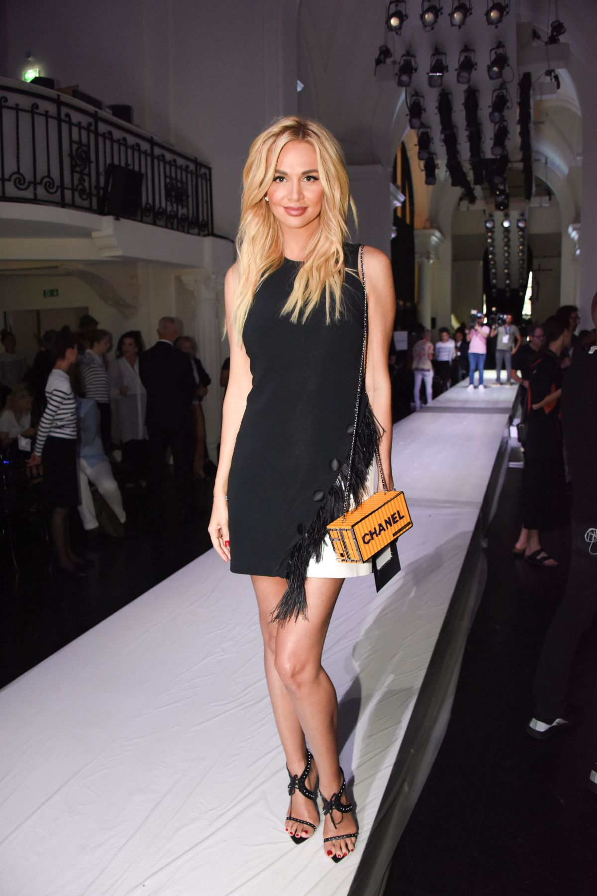 Victoria Lopyreva At Jean Paul Gaultier show, Front Row