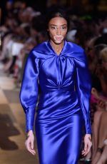 Winnie Harlow At Schiaparelli Fall 2018 Couture fashion show during the Paris Fashion Week in Paris, France