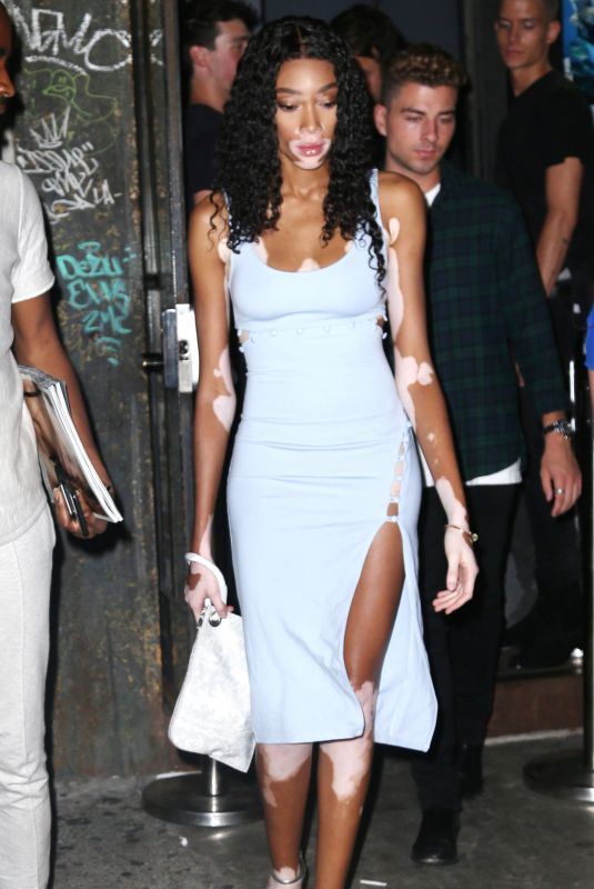 Winnie Harlow On a night out in NYC