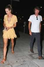 Alessandra Ambrosio and new beau Nicolo Oddi have a dinner date night at Matsuhisa in Beverly Hills