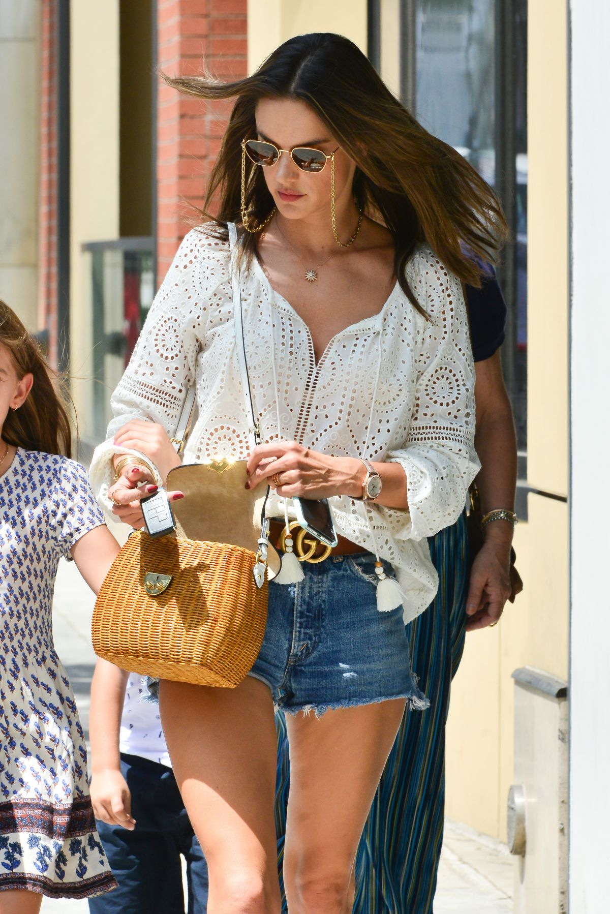 6ac1253c127 Alessandra Ambrosio Takes her daughter out to lunch on her 10th Birthday at  Avra Estiatorio in Beverly Hills