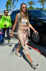 Alessandra Ambrosio With a new braided hairstyle in Los Angeles