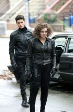 Camren Bicondova On set of Gotham in Brooklyn