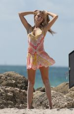 Caroline Kelley During a photo shoot on the beach in Miami