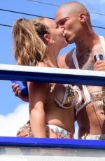 Chloe Green and Jeremy Meeks At carnival day in Barbados