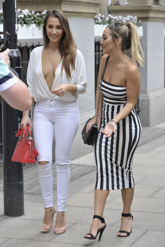 Chloe & Lauryn Goodman At Rosso Restaurant in Manchester