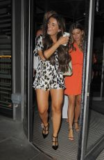 Dani Dyer Leaving the Savage Garden restaurant in London