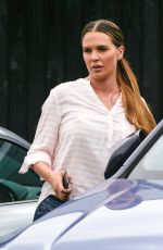 Danielle Lloyd Leaving the Hart Spa in Sutton Coldfield
